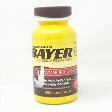 Genuine Bayer 325 mg Aspirin 500 Coated Tablets