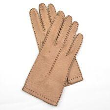 Peccaryleder Handschuhe Gr 6.5 Beige Tan Gloves CLASSIC S HERBST Autohandschuhe