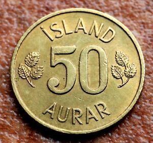 Iceland Island 50 Aurar Coin 1971 (AS1146)