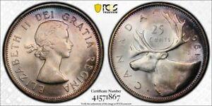 1961 Canada 25 Cent PCGS MS65+ Lot#G849 Silver! Gem BU!