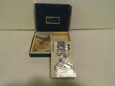 DURATONE ELK   PLAYING CARD Set w SLIDE CASE SEALED   AD ON BACK WISCONSIN