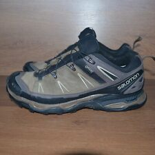 Salomon Leather GoreTex Hiking Running Trekking Shoes sz UK 8 / EUR 42 / US 8.5