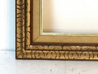 ANTIQUE HAND CARVED GILDED WOOD FRAME FOR PAINTING  20 X 16  INCH ( f x 6)