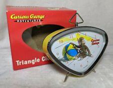 Curious George Adventures Alarm Clock w/Box - Yellow Triangle - Gitd