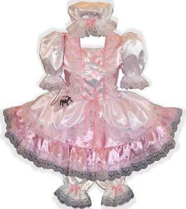 Little Miss Muffet CUSTOM Fit Satin Dress Bloomers Cap Spider Costume LEANNE