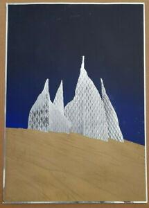 """Heinz Mack """"Lichtskulptur in der Wüste"""" - 6 Farben Siebdruck - handsig - WVZ 96"""