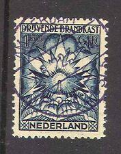 1921 NEDERLAND / NETHERLANDS /NIEDERLANDE  BRANDKAST NK 4 gestempeld  zeldzaam