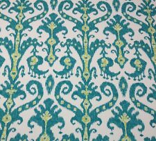 LACEFIELD DESIGNS MARRAKESH TURQUOISE BLUE LIME GREEN OUTDOOR FABRIC 5.2 YARDS