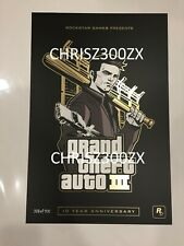 Grand Theft Auto III 3 Claude 10th Anniversary Lithograph Poster Print #386/500