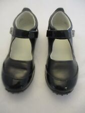 Nordstrom Black leather look and Patent leather look MaryJane Shoes Girls 1M New