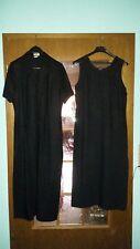 Schönes Mode für die besten Jahre Kleid Gr.40 long langes Leinen Viskose Weste