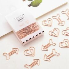 12pcs Arrow Heart Shape Paper Clips Hollow Out Binder Clips Tickets Clamp Hot