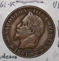 France 1861 K 5 Centimes bondeaux mint 290005 combine shipping