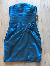 *Bailey Bridal* Blue Bridesmaid Dress Size 12 Strapless Evening Puffball Pouf B3
