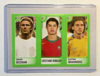 WM World Cup 2006 Germany 1 x Sticker Beckham , Ronaldo , Ibrahimovic Rookie