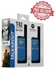 Motorola Talkabout T42 Twin Pack of Two-way Radios in Blue   Free Delivery