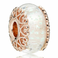 Authentic Rose Gold PANDORA Charm - Element 787576 Murano Bead ALE R