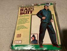 ACADEMY BROADWAY NEW DELUXE RAIN SUIT GEAR GREEN JACKET & PANTS S WATERPROOF PVC