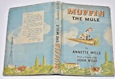 * RARE SIGNED * Muffin The Mule by Annette Mills in D/J 1951