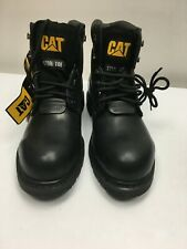 CATERPILLAR STEEL TOE CAP BOOTS SIZE 9 & 10 UK SHOES CAT WORK BLACK LEATHER