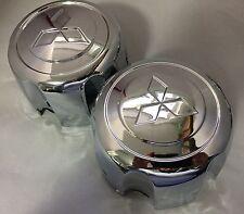 2PCS Replacement Wheel Center Hub Caps + Retention Clip for Montero Pajero Sport