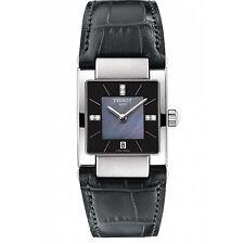 Tissot Lady T02 Quartz Black MOP Dial Leather Strap Women's Watch T0903101612600