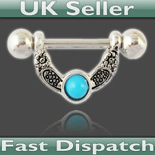 Nipple Bar (Dangle) with Blue Stone - UK Seller - Fast Dispatch! Blue Stone,ring