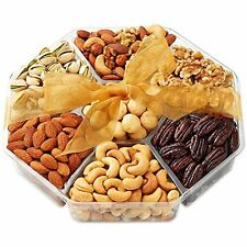 Deluxe Bakery & Dessert Gifts Roasted Nuts Baskets, 7-Section