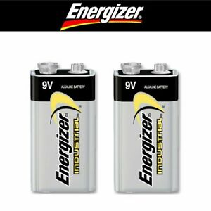 Pile 9v Energizer 6F22 6LR61 9 volts alcaline lot de 2 piles MN1604 Industrial