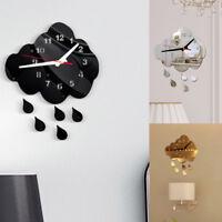 DIY Acryl 3D Verspiegelt Water Droplet Wanduhr mit Quarz Modern Für Wohnzimmer
