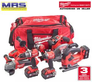 Milwaukee M18FPP6D2-503B 18V Fuel 6 Piece Kit (3 x 5.0Ah Batts) M18 - 4933464918