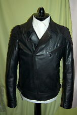 NWT HUGO BOSS mens zip front motorcycle leather jacket with suede trimming 40R