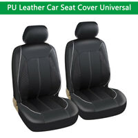 2* Car Front Seat Cover Waterproof Front  Cushion Mat Universal Truck SUV