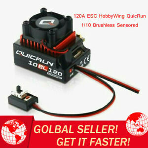 HobbyWing QuicRun 1/10 Brushless Sensored 120A ESC 10BL120 For 1:10 RC Car