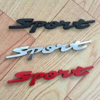Car Styling 3D Metal Chrome Logo Car Sticker SPORT Emblem Badge Door Decal