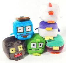 "Set of (6) Wish Factory Kawaii Plush Cubes Crossy Road 2"" Toys"