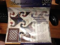 """Fiskars Foundations Complete Quilt Stencil Set Snail's Trail """"FREE SHIPPING"""""""