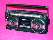 Philips D8050 2-Wellen-Stereo-Radiorecorder voll funktionsfähig lädt Akkus LOOK!