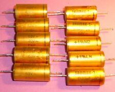 10x vintage condensador eromak - 1 capacitor 0,33 UF 63v 1%