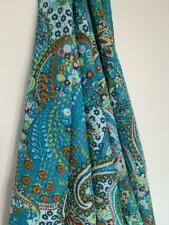 Indian Kantha Throw Paisley Print Kantha Quilt Reversible Bedspread Cotton Gudri