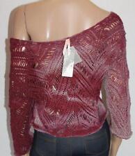 Ally Brand Red Crochet 3/4 Sleeve Jumper Size XS BNWT #st108