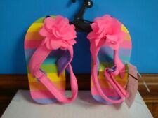 New listing Girl's sandals, pink-multi color, velcro closure, size 5