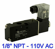 "Pneumatic 3 Way Electric Directional Control Solenoid Valve 1/8"" Inch 110V AC"