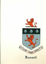 *Great Coat of Arms Russell Family Crest genealogy, would look great framed!