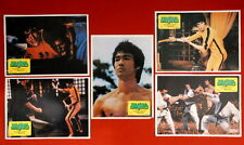 BRUCE LEE GAME OF DEATH 1970's 5x EXYU LOBBY CARDS