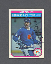 Normand Rochefort signed Nordiques 1982-83 Opee Chee hockey card
