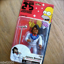 THE SIMPSONS 25 Greatest JAMES BROWN Guest Stars Series 1 Action Figure NECA 5""