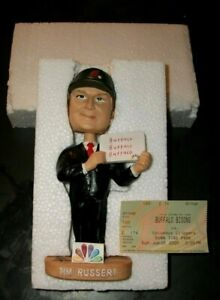 AUTOGRAPHED NEW IN BOX RARE TIM RUSSERT BUFFALO BISONS BOBBLEHEAD MEET THE PRESS