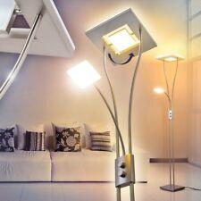 Piantana Dimmer Lampada Terra Luce LED Lettura Quadrato Design Soggiorno Nichel