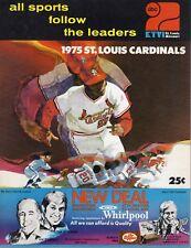 1975 Baseball program Los Angeles Dodgers @ St. Louis Cardinals,partly scored~VG
